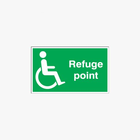 Plastic 250x350mm Refuge Point Signs