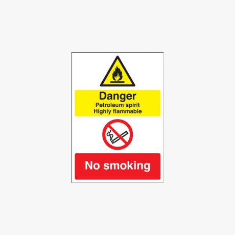 Self Adhesive Plastic 600x450mm Danger Petroleum Spirit Highly Signs