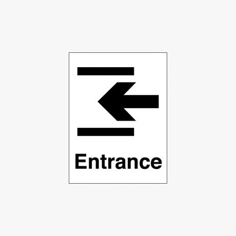 Plastic 400x300mm Entrance & Arrow Left Signs