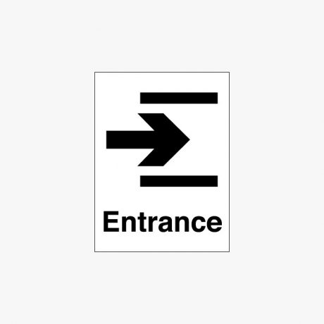 Plastic 400x300mm Entrance & Arrow Right Signs