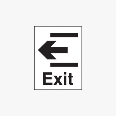 Plastic 400x300mm Exit & Arrow Left Signs