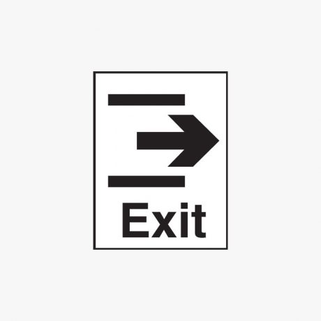 Plastic 400x300mm Exit & Arrow Right Signs