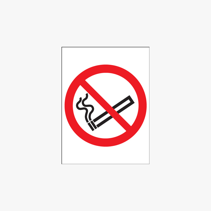 Plastic 600x450mm No Smoking (Symbol) Signs