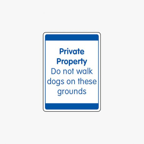 Plastic 600x450mm Private Property Do Not Walk Signs