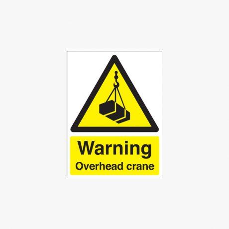 Plastic 400x300mm Warning Overhead Crane Signs