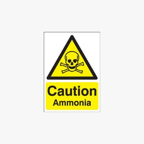 Self Adhesive Plastic A1 Caution Ammonia Self Adhesive Plastic Signs