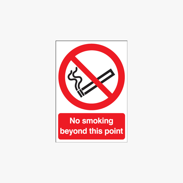Self Adhesive Plastic A1 No Smoking Beyond This Point Signs