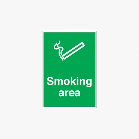 Plastic 600x450mm Smoking Area Signs