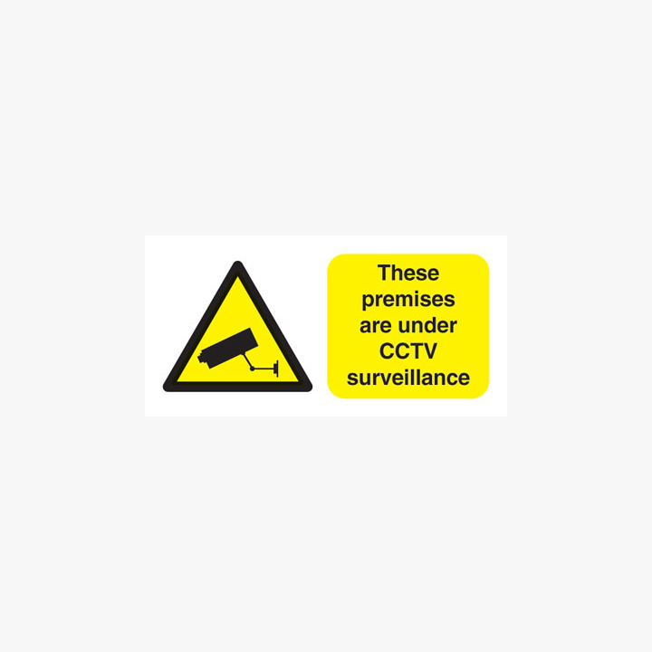 450x600mm These Premises Are Under Cctv Self Adhesive Plastic Signs