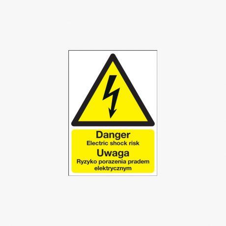 Uwaga Ryzyko Porazenia Pradem Elektrycznym Signs - Polish Danger Electric Shock