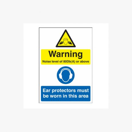 Warning Noise Level Of 80Db(A) Signs