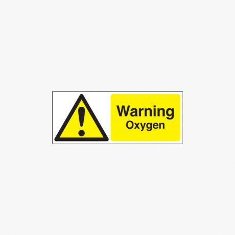 Warning Oxygen Plastic Signs 250 mm x 100 mm