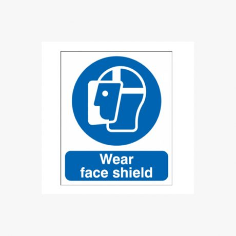 Wear Face Shield Signs