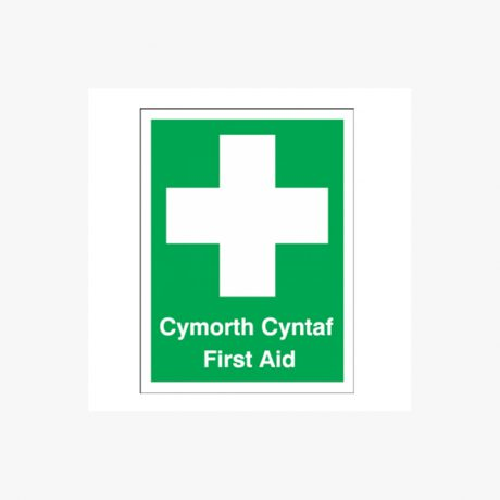 Welsh Language First Aid Signs