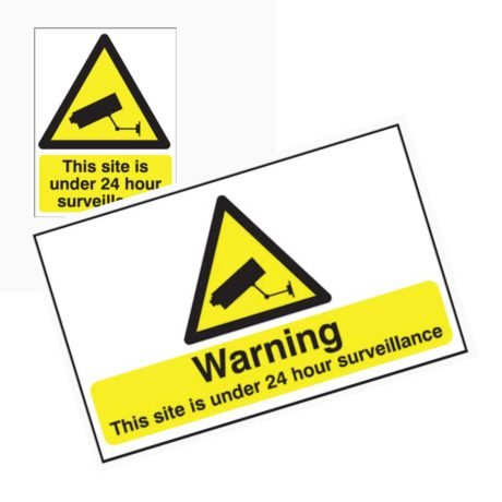 24 Hour CCTV Signs