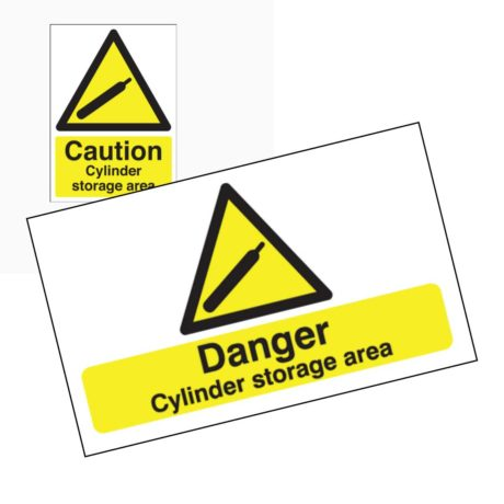 Caution Cylinder Storage Area Signs