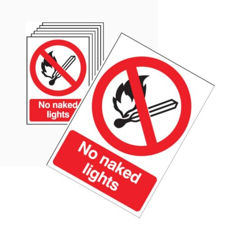 No Naked Lights Signs