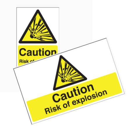 Risk of Explosion Signs