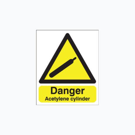 Danger Acetylene Cylinder Signs