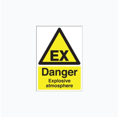 Danger Explosive Atmosphere signs