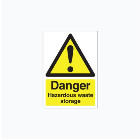 Danger Hazardous Waste Storage