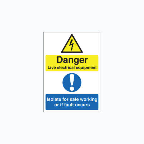 Danger Live Electrical Equipment