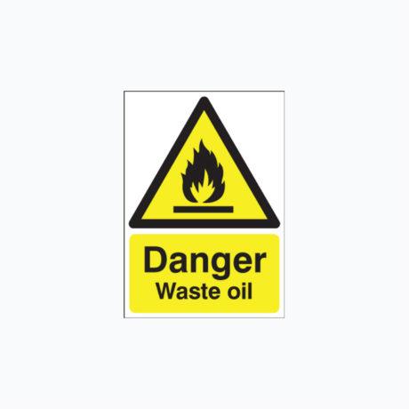Danger Waste Oil Signs