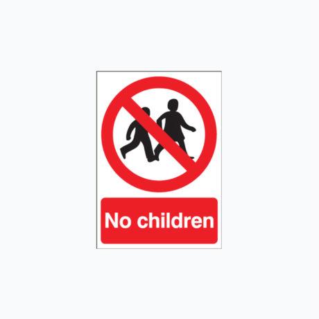 No Children Safety Signs