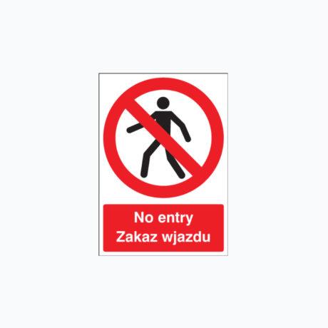 No Entry Polish Zakaz Wjazdu Signs