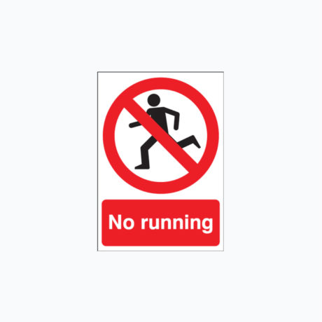No Running Safety Signs