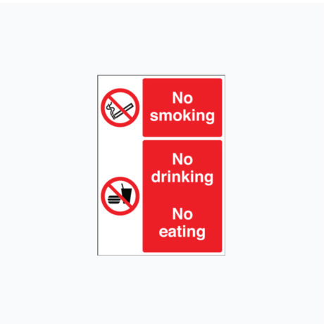 No Smoking, No Drinking, No Eating Signs