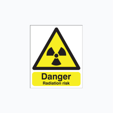 Radiation Risk Safety Signs