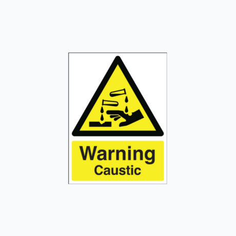 Warning Caustic safety Signs