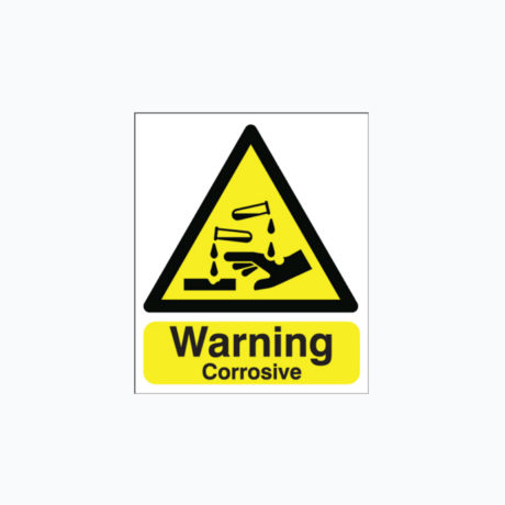 Warning Corrosive Safety Signs