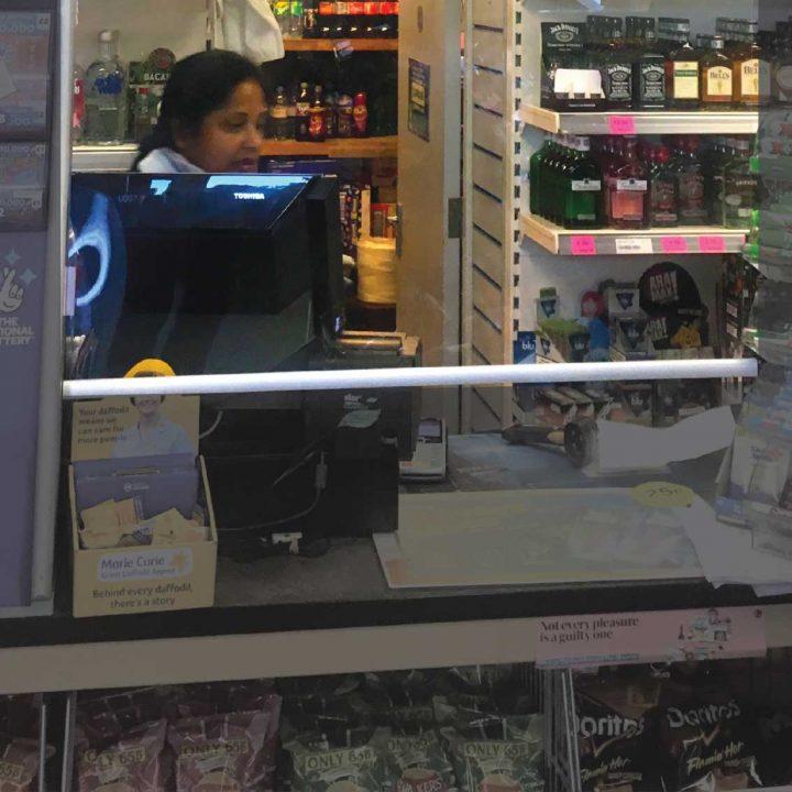 Shop counter ani sneeze screen