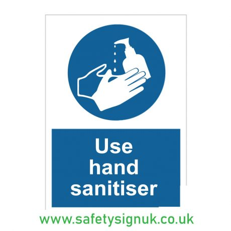 Use Hand Sanitiser Mandatory Signs