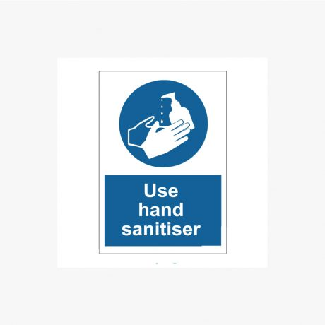 Use hand sanitiser mandatory signs and stickers