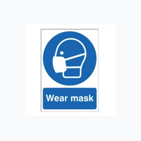 Wear Face Mask Plastic Signs