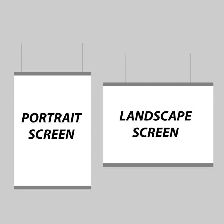 portrait or landscape sneeze screen
