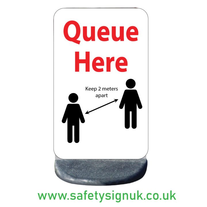 queue-here-2-meters-apart-pavement sign