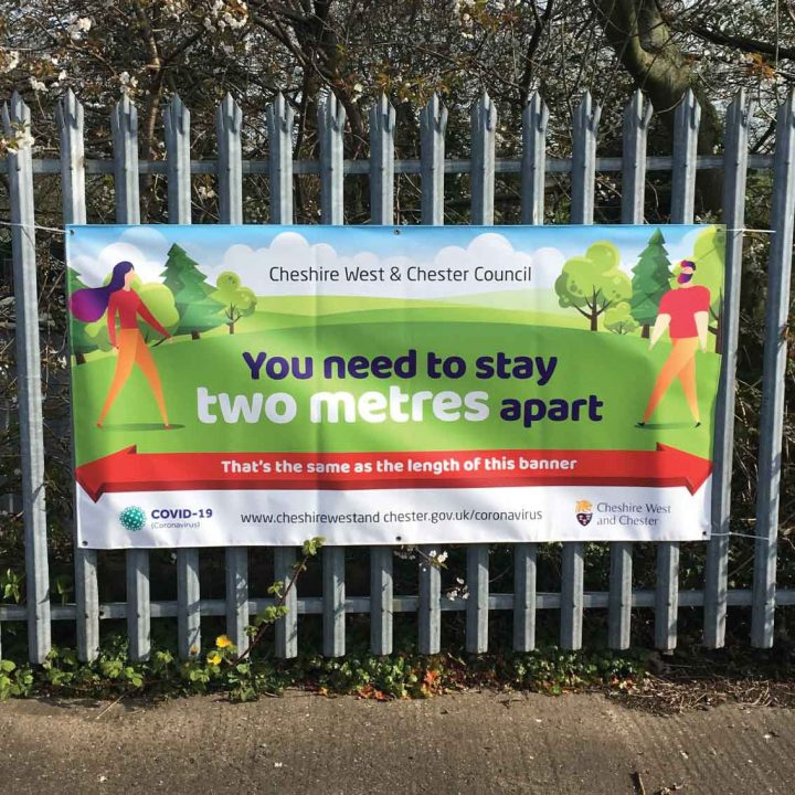 social distancing banner for parks